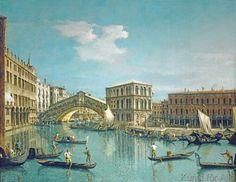 Giovanni Antonio Canaletto - Rialto Bridge in Venice