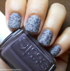 Water Spotting nail art with @essiepolish