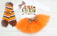 The cutest Thanksgiving and Fall inspired baby outfit. This outfit comes with a fluffy baby orange tutu, a bodysuit and a matching headband. Babys First Thanksgiving, Fall Baby Clothes, Baby Orange, Baby Tutu, Baby Girl Fashion, Autumn Inspiration, Tulle, My Style, Projects