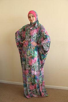 Multicolor Prayer dress Farasha Caftan Khimar dress Muslim