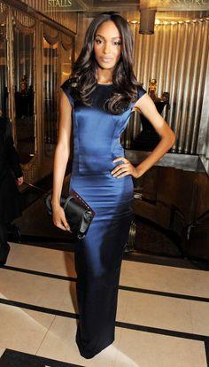 The Red Carpet at the British Fashion Awards:  Jourdan Dunn