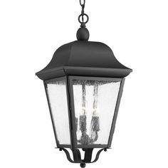Matte Black Acclaim 5274BK Dover Collection 3-Light Outdoor Light Fixture Hanging Lantern