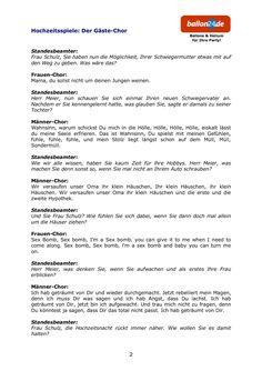 Hochzeitsspiel: Der Gäste-Chor-Hochzeitsspiel: Der Gäste-Chor