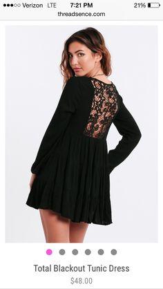 Total Blackout Tunic Dress $48