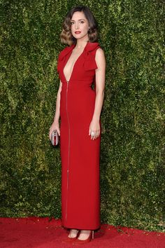 Rosy Byrne wearing Delpozo - Tony Awards 2015 red carpet pictures | Harper's Bazaar