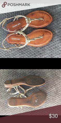 Gianni Bini gold hardware sandals, 7.5 Gold Gianni bini sandals, super comfy sole, size 7.5, worn 2x before summer was over ☹️ Gianni Bini Shoes Sandals