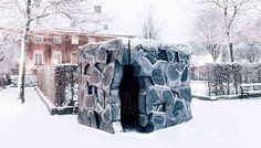 chalmers university masters of arch students realize the crack pavilion