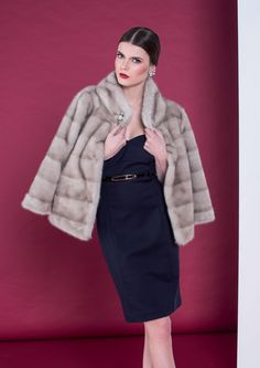 Fluid volumes and linear cuts give outfits retro flair.#Dress-->http://goo.gl/ZwoUOs #FakeFur-->http://goo.gl/Ve6ZQx