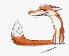 15 Fox Pictures to Brighten Your Day Fuchs Illustration, Cute Illustration, Animal Drawings, Cute Drawings, Fox Drawing, Fox Pictures, Fox Art, Funny Art, Animal Design