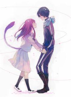 noragami// yato and hiyori; yes. YES. I SHIP ❤️
