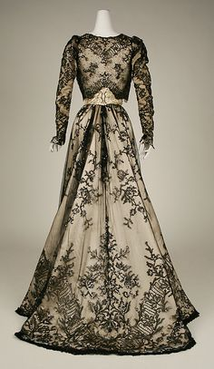 Dress, Evening From 1898-99. In Metropolitan Museum collection.
