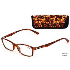 Eso Vision 165071 C2 high quality PC frame reading glasses attach eyeglasses pouch orange