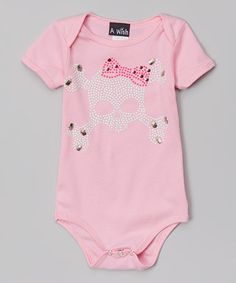 Look what I found on #zulily! A Wish Pink Skull & Bow Bodysuit - Infant by A Wish #zulilyfinds