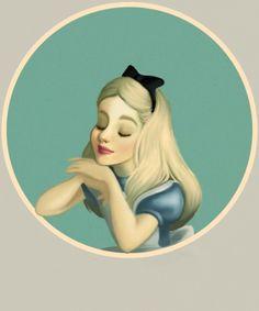 Alice in wonderland by Lewis Carroll, Disney version Lewis Carroll, Alicia Wonderland, Adventures In Wonderland, Art Disney, Disney Love, Alice Disney, Illustrations, Illustration Art, Character Illustration