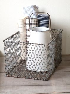 vintage wire basket by cottagefarm on Etsy, $44.00