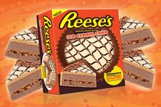 True fans of Reese's will flip for this decadent ice cream cake! Here's where to find the frozen Reese's ice cream cake. Peanut Butter Cookie Lasagna, Reese's Peanut Butter Bars, Chocolate Peanut Butter Squares, Peanut Butter Kiss Cookies, Homemade Peanut Butter Cups, Peanut Butter Sandwich, Reese's Ice Cream Cake, Reeses Ice Cream, Chocolate Marshmallows