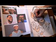 Learn How To Draw Faces Step by Step - Lebron James Caricature Lesson 2 - YouTube