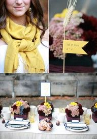 Yellow and Maroon and lilac