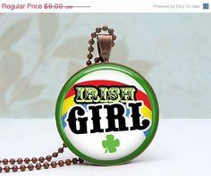 Irish Girl Rainbow pendant