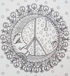 Peace Mandalas Coloring Book Page Мандала colouring adult detailed advanced printable Zentangle anti-stress, Färbung für Erwachsene, coloriage pour adultes, colorare per adulti, para colorear para adultos, раскраски для взрослых, omalovánky pro dospělé, colorir para adultos, färgsätta för vuxna, farve for voksne, väritys aikuiset Line Art Black and White https://www.etsy.com/shop/ChubbyMermaid