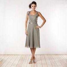 Light green asymmetric draped midi dress - Bridesmaid dresses - Dresses - Women -