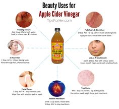 Beauty Remedies using ACV - From fading pregnancy scars, to getting rid of bad breath. Apple cider vinegar has a ton of beauty uses and we wanted to share our favorite remedies with you!