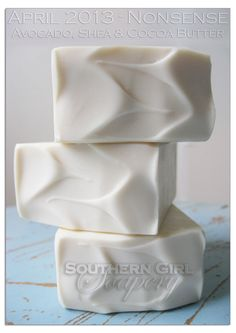 """Southern Girl Soapery handmade soap """"Nonsense"""" with avocado, shea, and cocoa butter. $6.50  www.facebook.com/SouthernGirlSoapery"""