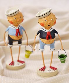 Another great find on #zulily! Sailor Boy Figurine - Set of Two #zulilyfinds