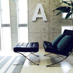 kazuya.designさんの、アルファベット,アルファベットオブジェ,自作オブジェ,Helvetica,部屋全体,のお部屋写真