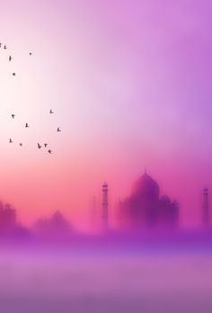 India, the Taj Mahal Isabelle Richer, Beautiful World, Beautiful Places, 4 Wallpaper, Amazing India, Pink Sky, Belle Photo, Background Images, Wonders Of The World