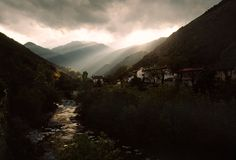 "Harry Gruyaert  FRANCE. Provence-Alpes-Cote d'Azur region. Village of ""La Brigue"". 1997."