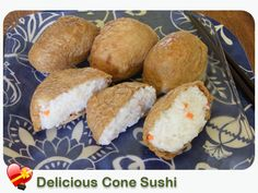 Delicious Cone Sushi Local Style: A local favorite, cone sushi is found at Japanese local lunch shops. Delicious as a quick snack. Enjoy! | I Love Hawaiian Food Recipes