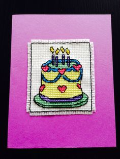 Birthday Cross Stitch Card made by me