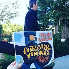 A special Bob Dylan #bookfacefriday in honor of his Nobel Prize in Literature achievement. #syosset #library #bookface #bookcovers #librariesofinstagram #bookstagram #nobelprizeliterature #nobelprize #bobdylan #foreveryoung #paulrogers #books #reading #picturebooks #kidsbooks #syossetbookface #picturebookstagram #atheneumbooks #music #poetry #songwriter