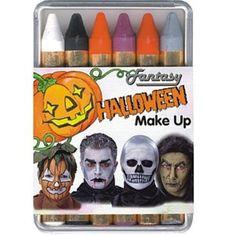 6 Schminkstifte Halloween