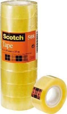 Scotch Pack de 8 Rouleaux de Ruban Adhésif Transparent 19mm x 33m: Price:53M Scotch ruban adhésif 508, transparent, 19 mm x 33 mdiamètre du…
