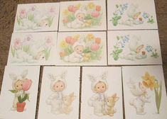 340 best vintage greeting cards images on pinterest in 2018 set of 10 current inc lil luv bunting easter cards ruth bill morehead spring 7x5 m4hsunfo