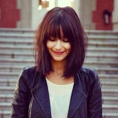 messy long auburn haircut with fringe - Google Search