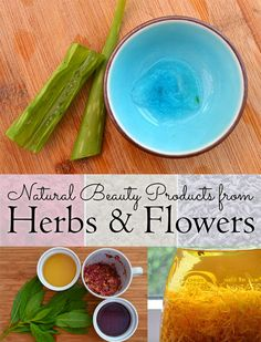 Use herbs, flowers, and plant extracts to make handmade and natural beauty products #beauty