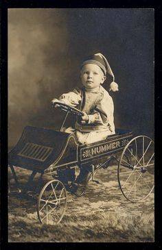 An adorable gallery of young drivers and their pedal cars. A tribute to the mothers of little auto enthusiasts across the nation! Vintage Children Photos, Vintage Pictures, Old Pictures, Vintage Images, Old Photos, Vintage Cars, Antique Photos, Vintage Photographs, Vintage Illustration