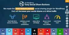 [IMG] CodeCanyon - Easy Social Share Buttons for WordPress - 6394476 DEMO Easy Social Share Buttons for WordPress is the best social sharing. Social Media Channels, Social Networks, Wordpress Plugins, Wordpress Theme, Social Proof, Everything Free, Social Share Buttons, Free Graphics, Blogger Templates