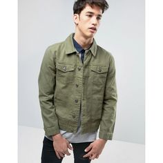 68722c3f759356 Brave Soul Denim Jacket ( 44) ❤ liked on Polyvore featuring men s fashion