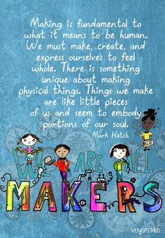 Resources and ideas for empowering and inspiring your students to be makers via Krispy Venspired #Maker