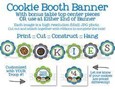 Girl Scouts Cookie Sales Banner Pack - Printable, DIY - Cookie Booth ...