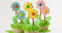 Flower Cupcakes Recipe   Holiday Cottage