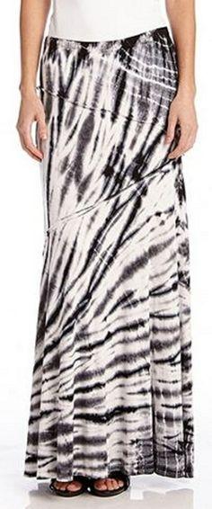 Love ...love...LOVE this Shades of Grey Tie Dye Stretch Jersey Reverse Seam Maxi Skirt #tie_dye #maxi_skirt #fashion SOMETHING I LUV