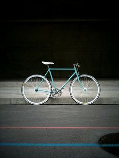 #fixie #bike #turquoise