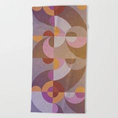 #towel #beach #bath #geometric #retro #colors #home