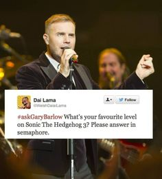 When the #askGaryBarlow hashtag took a turn for the surreal. | 41 Little Things That Made Us Smile In 2013