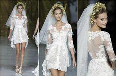 Vestidos de novia con detalles de encaje son Tendencia 2014